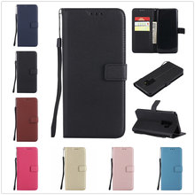 Lederen Telefoon Geval Voor Samsung Galaxy A6 A8 Plus J2 J4 J6 J8 2018 J1 J3 J5 J7 2016 A7 a3 A5 2017 Flip Wallet Kaarthouder Cover(China)