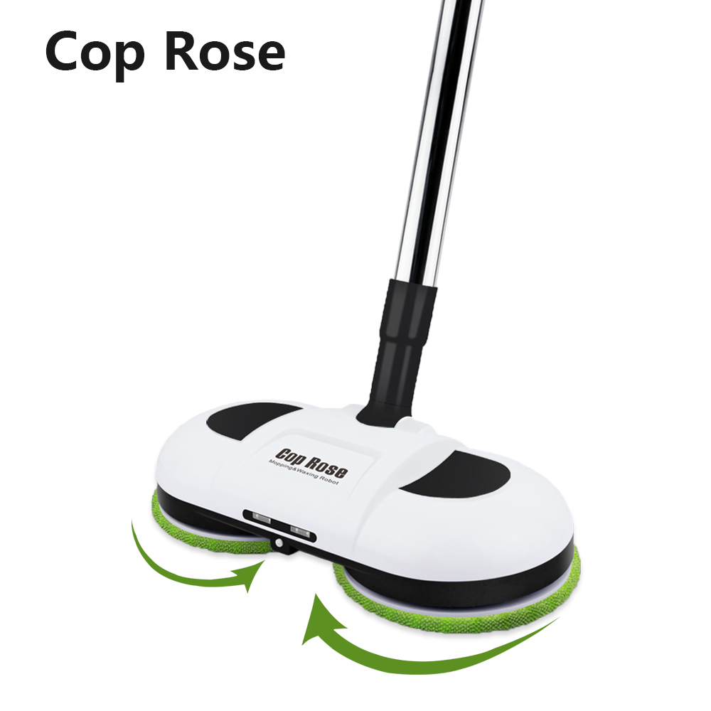 Cop Rosa Originale Scopa Elettrica Senza Fili Tenuto In Mano Tergicristallo Rondelle Bagnato Mopping Robot Pavimento Mop Macchina con la Luce del LED del Regalo Delle Donne