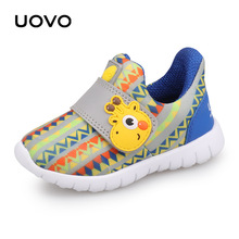 UOVO 2019 Baby Shoes Toddler Boys And Girls running  Shoes Spring breathable Little Kids Shoes Hook-And-Loop Size 22#-30# цена 2017