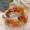 Bohemia Summer Sweet Bead Bracelet&Bangle For Women Multi Colors Shell Gravel Decorative Multi Layers Cuff Bracelet