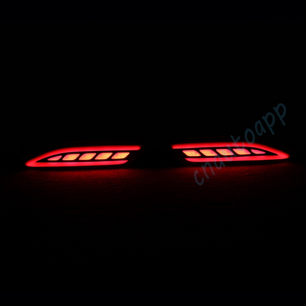 LED Rear Bunper Warning Lights Car Brake Light Running Lamp Turn Light For Honda HRV / VEZEL 2014 - 2015  (One Pair) led rear bumper warning lights car brake lamp cob running light led turn light for hyundai sonata 8 2014 2015 one pair
