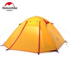 Authentique 4 Personne Revêtement Étanche Double Couche Tentes de Camping En Aluminium Tige Portable de Haute Montagne En Plein Air Tente PU3000mm W Tapis