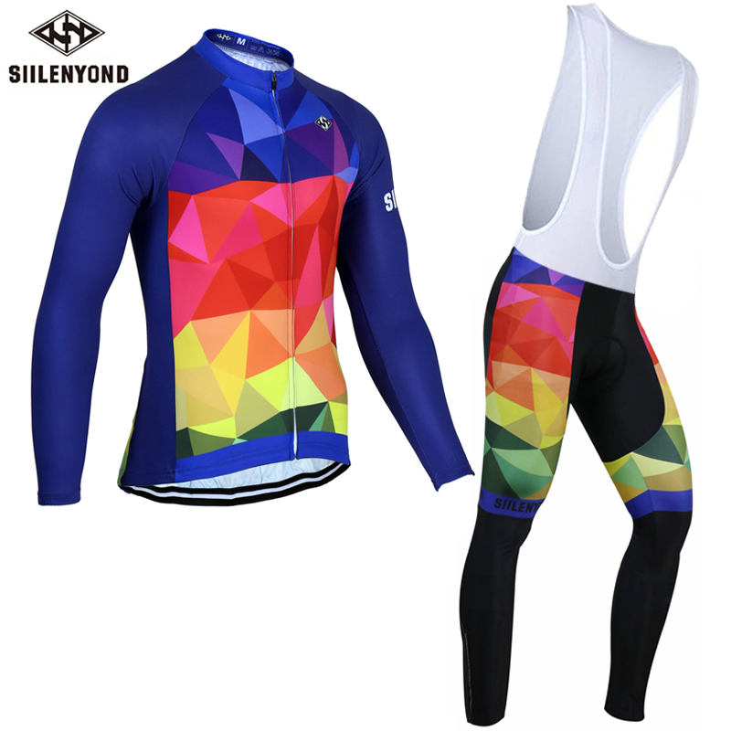 ФОТО Siilenyond Winter Super Warm Cycling Jersey Set Thermal Fleece Bicycle Wear Mountain Bike Clothing Maillot Ciclismo Invierno