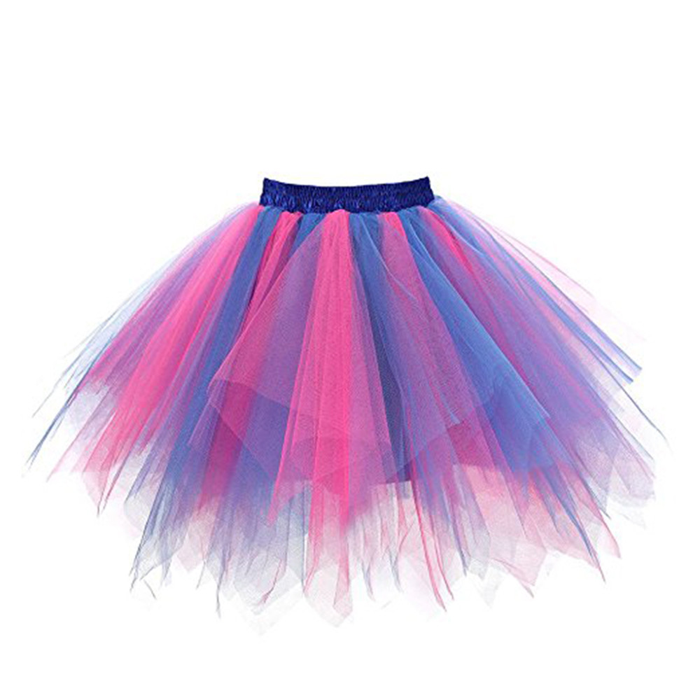 Skirts Girl Womens High Quality Pleated Gauze Colours Short Skirt Adult Tutu Dancing Skirt Faldas Mujer Moda 2019 El Verano #N05