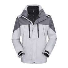 Shipping Free two in one Men 's outdoor mountain camping leisure sports ski Jackets 2 in 1 jacket wholesale price sport jacket