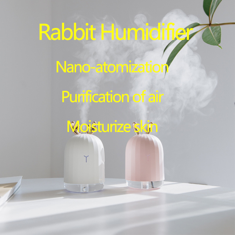 Deer Cute Rabbit Aroma Humidifier Household Mute Bedroom Small Portable Face Student Dormitory Desktop Network Red