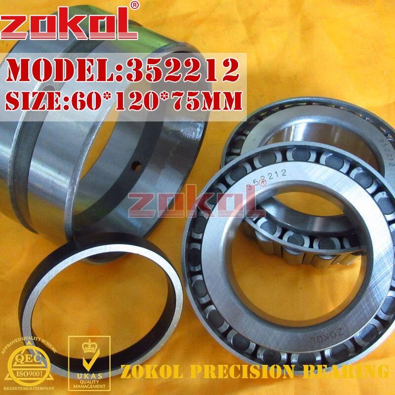 ZOKOL bearing 352212 97512E Tapered Roller Bearing 60*120*75mm zokol bearing 32915 2007915e tapered roller bearing 75 105 20mm