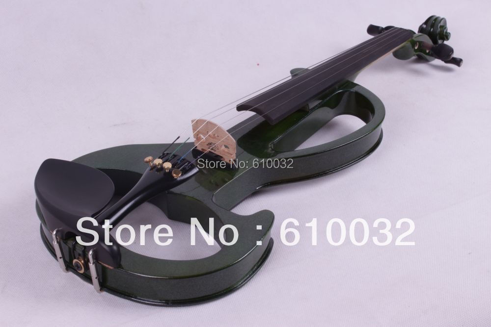 4/4 Electric Violin Solid wood 6 --9# silvery  dark green     color   4  string 4 4 electric violin solid wood 4 1 silvery blue red color 4 string
