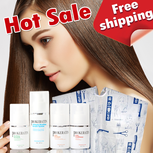 ON SALE Brazilian keratin treatment  5 pcs/ set for keratin hair straightening repair hair get free gifts