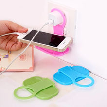 Mobile Phone Holders Stands 2Pcs Foldable Cell Phone Wall Charger Hanger Cradle Universal(China)