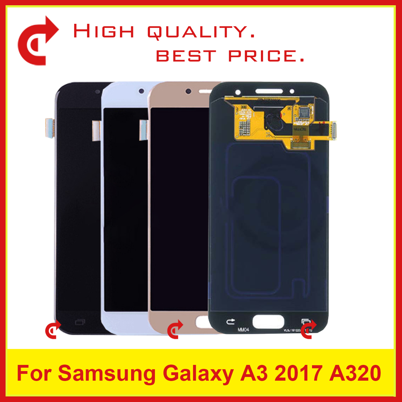 10Pcs/lot DHL 4.7 For Samsung Galaxy A3 2017 A320 A320F SM-A320F Full Lcd Display With Touch Screen Digitizer Assembly Complete10Pcs/lot DHL 4.7 For Samsung Galaxy A3 2017 A320 A320F SM-A320F Full Lcd Display With Touch Screen Digitizer Assembly Complete