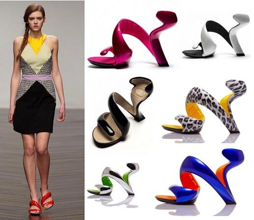 Glass heel sexy sandals alien high
