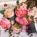 11 Cabeças Peônia Casamento Europeia Decoração de Festa Em Casa de Flores De Seda flor de seda Peônia 1 Bouquet Artificial Flor Peônia Falso Peopny