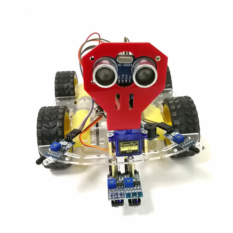 1set 4WD smart robot car chassis kits with Speed Encoder for arduino OD