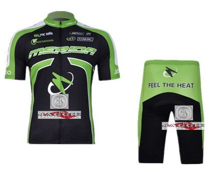 Free shipping! 2011-2 MERIDA team cycling jersey and shot / short sleeve jerseys+Z123 bike bicycle wear set COOL MAX