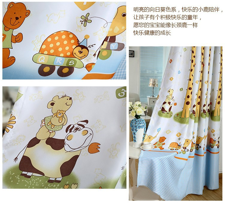 Animal Print Blackout Baby Infant Room Curtains Children S Boys Curtain For Bedroom Kids Soundproof Nursery Cortinas In From Home Garden On