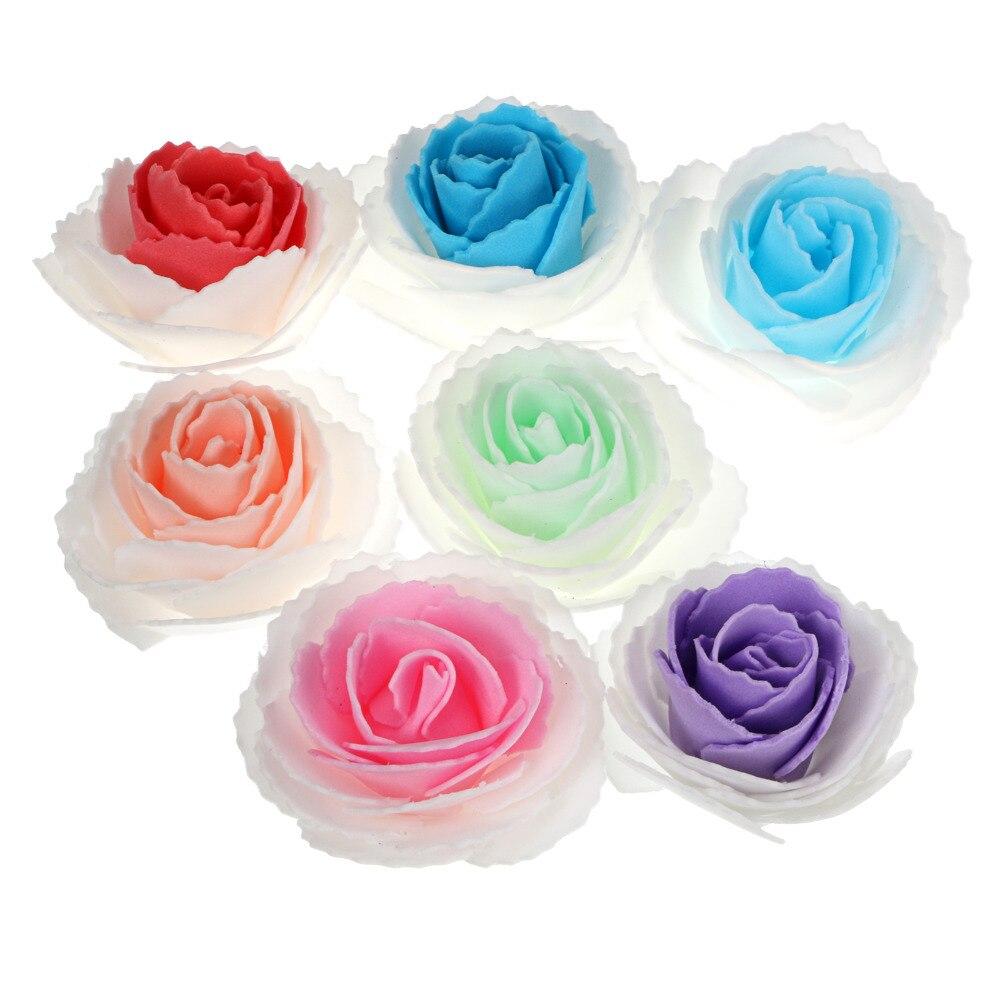 7 colors a set lowest price! Artificial 7cm Rose PE Foam Silk Flower Heads for Wedding Bridal Garland