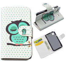 Printing Flip Stand Wallet Case For Samsung Galaxy S Plus i9001 i9000 Flip Cover with ID Card Holder 10 Colors in Stock