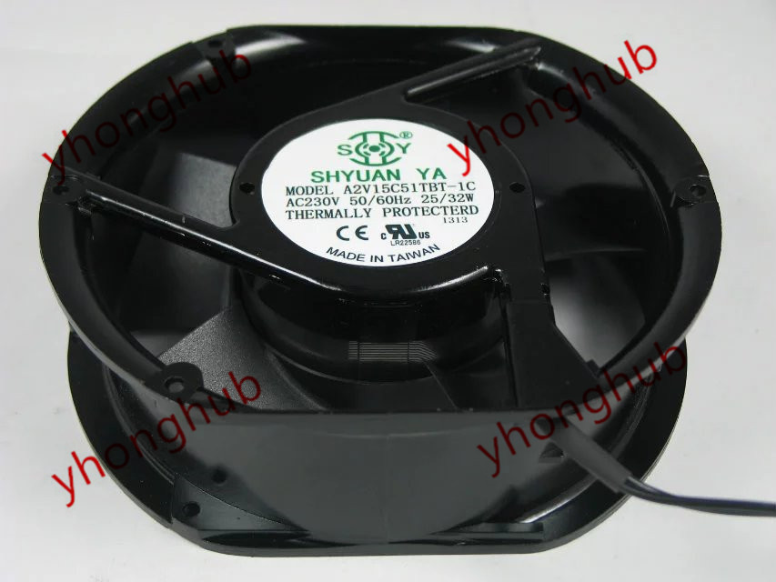 Emacro For SHYUAN YA A2V15C51TBT-1C AC 230V 25/32W 172x172x51mm Server Round Fan emacro for comair rotron pt2b3qdn server round fan ac 115v 30w 172x172x51mm