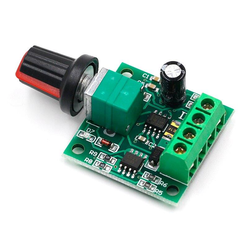 Новый Постоянный ток 1,8 в 3 в 5 в 6 в 12 В 2A ШИМ контроллер скорости двигателя низкого напряжения регулятор скорости двигателя шим 0 ~ 100% Регулиру...