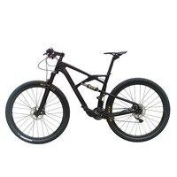 21 Speed 29er Full Suspension Frame Fork Carbon Mountain Complete Bike With Oil Disc Brake D881