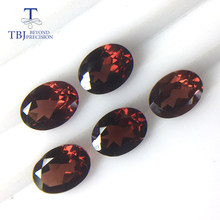 Tbj , natural mozambique garnet loose gemstone oval 6*8mm ard 7.2ct 5 piece in one lot for 925 sterling silver jewelry mounting(China)
