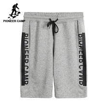 Pioneer Camp New design summer shorts men brand clothing fashion printed workout shorts male top quality black grey ADK701026(China)