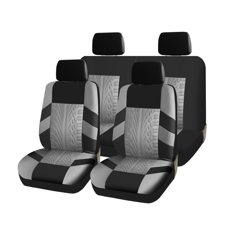 AUTOCROWN Car seat covers for the universal size 3mm polyester reliable and practical interior sewn durable material color blue