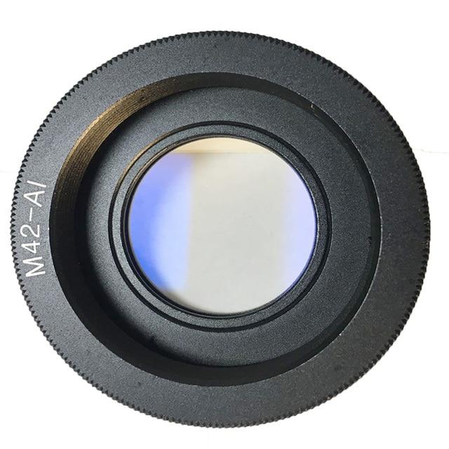 حلقة محول عدسات Foleto M42 M42 AI زجاج لعدسة M42 إلى مثبت نيكون بزجاج بتركيز لا نهائي كاميرا DSLR d3100 d3300 d7100