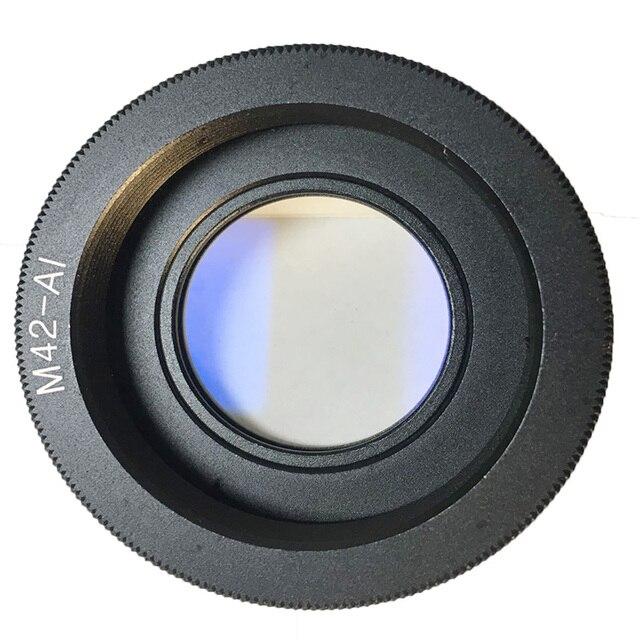 Foleto anillo adaptador de lente M42, cristal de M42 AI para lente M42 para montaje de Nikon con enfoque infinito, cámara DSLR de cristal d3100 d3300 d7100