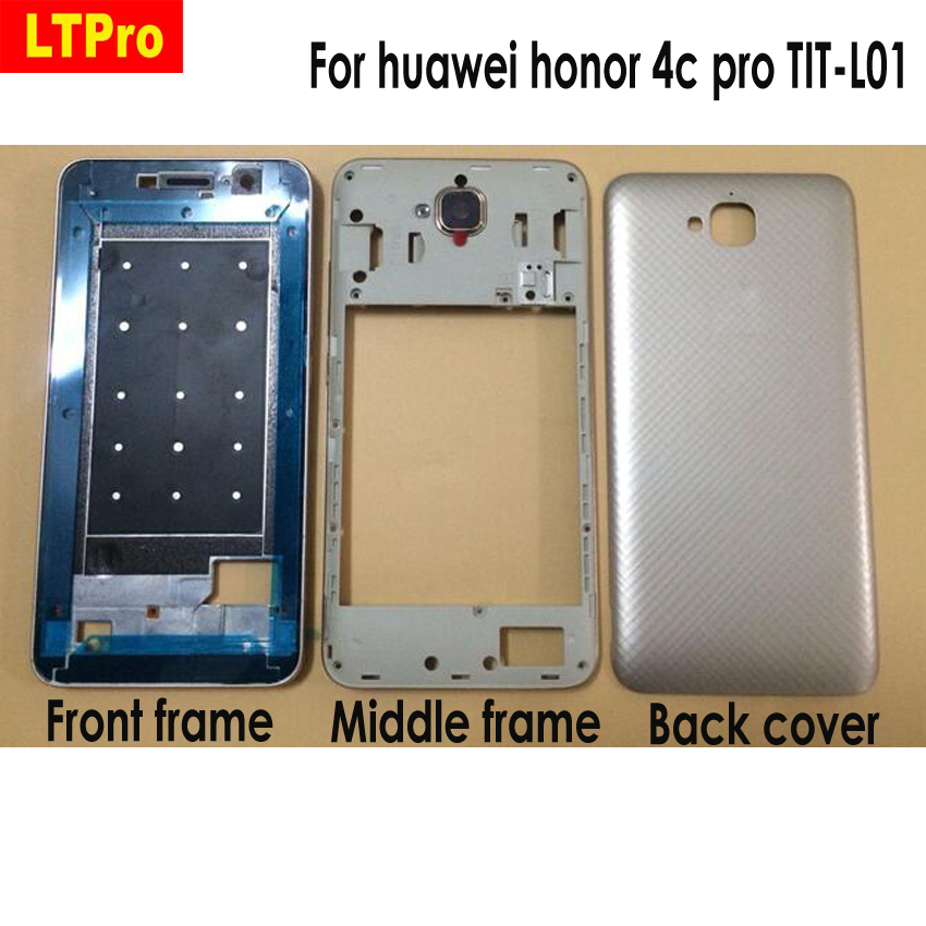 LTPro For Huawei Honor 4c Pro 4cpro TIT-L01 LCD Faceplate Frame Front Middle Frame Housing Battery Door Back Cover Housing Case