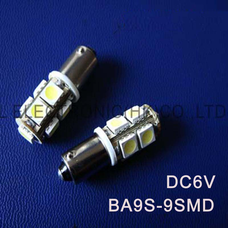 High quality DC6.3V 6V BA9S led light bulb Indicating lamp caution light Warning lights Warning Signal free shipping 100pcs/lot