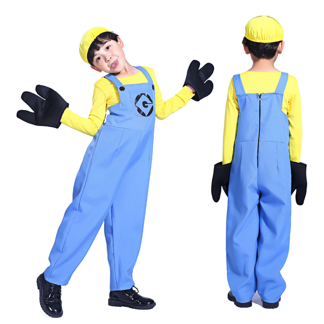 Halloween costume boys suit small yellow people Despicable Me Despicable Me RPG clothing Family fitted small  sc 1 st  AliExpress.com & Halloween costume boys suit small yellow people Despicable Me ...