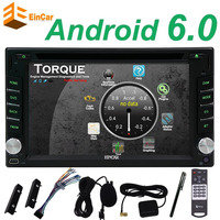 Quad Core 2din android 6.0 2 din radio tape recorder Car DVD Player GPS Navigation In dash steering wheel Control+ TV (Option)
