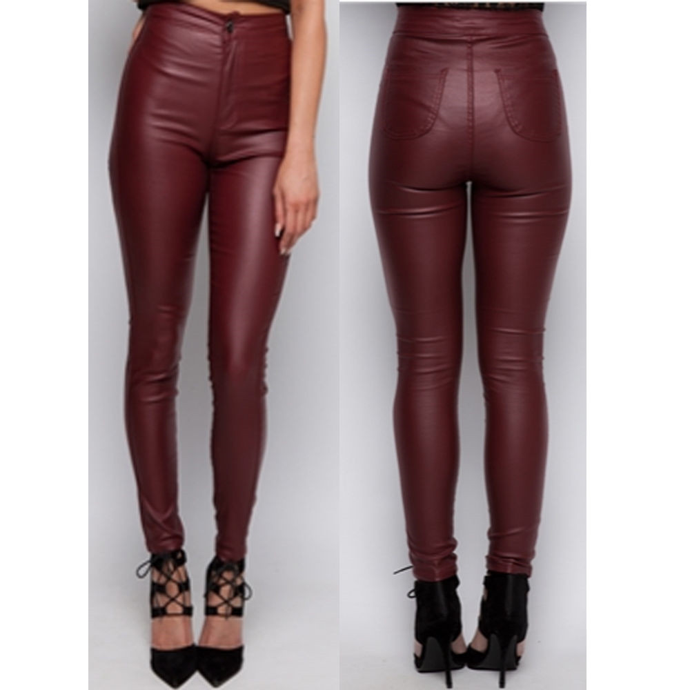 65b0bb521a9c Sexy super skinny high waisted leather pencil pants solid full length  trousers jeans jegging leggings 3 color for women woman-in Pants   Capris  from Women s ...