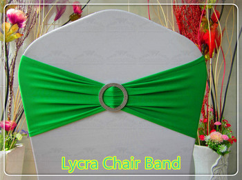 1/2----With Round Buckle---- Spandex/Lycra Band/Expan Chair Bands/Chair cover sash For Wedding Party Banquet Decorations