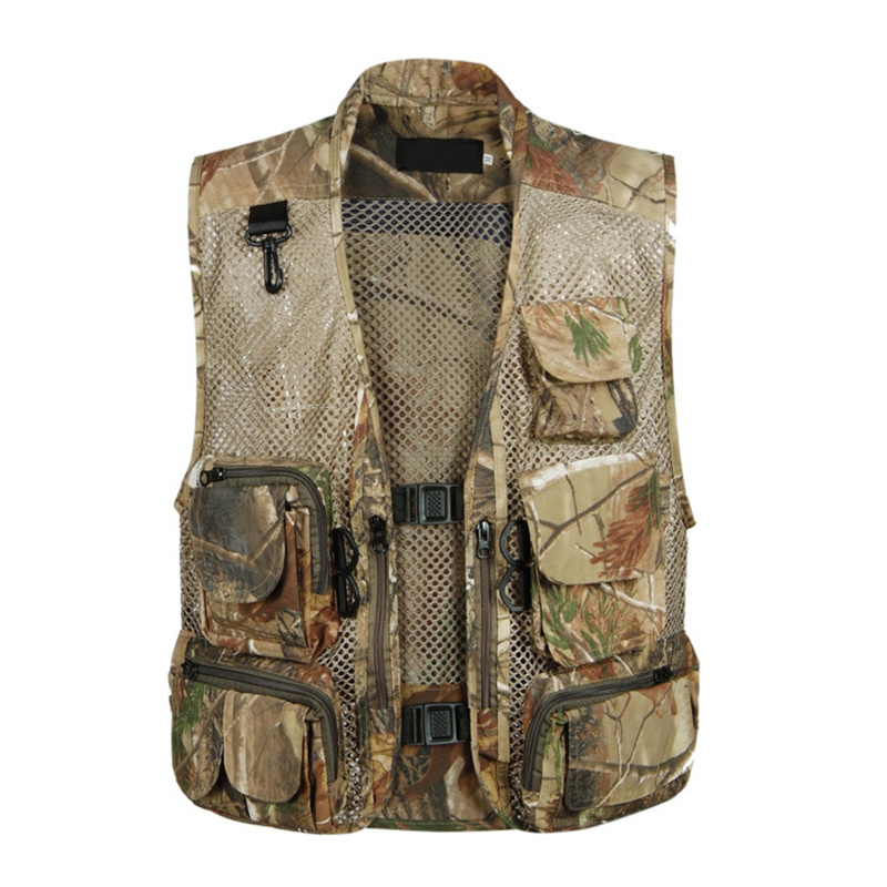 Tactical Mesh Men Vest Breathable Multi Pockets Camouflage Summer Outdoors Waistcoat Sleeveless Jacket Hunt Vest Size 3XL цена в Москве и Питере