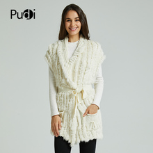 VT803 woman real rabbit fur vest jacket girl spring winter warm shawl genuine rabbit fur knit