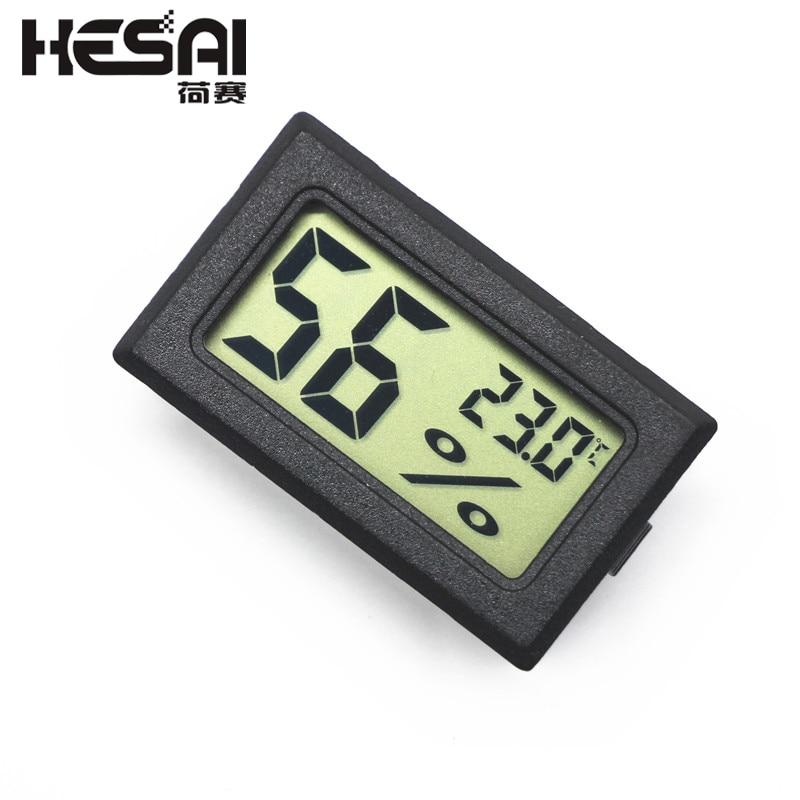 Mini LCD negro temperatura digital e interior termómetro higrómetro sensor de humedad