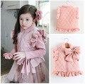 Girls Vest Autumn New Arrival Baby Girls Vest big Bow Children Outerwear & Coats Princess Casual Kids pink Vest Coat
