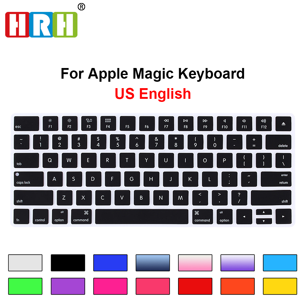 HRH Keyboard Cover Silicone Skin Keypad Cover Protector Protective Film for Apple Magic Keyboard MLA22B/A US Keyboard Version falling