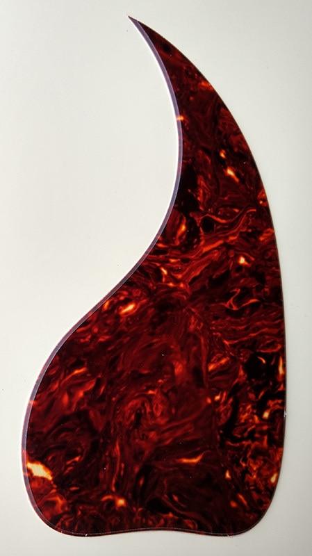 Pleroo Custom Guitar Pickgaurd - Great For J45 Acoustic Guitar Pickguard Teardrop Shape, Brown Tortoise