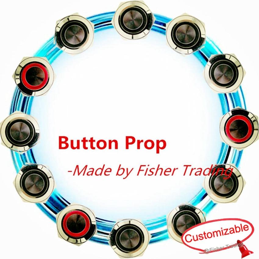 Fisher Trading Real life équipement de jeu de salle d'évasion, lumière sur les boutons pour ouvrir la serrure, appuyez sur les boutons pour échapper