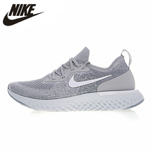 Nike Epic React Flyknit для мужчин кроссовки серый Professional спортивные AQ0067