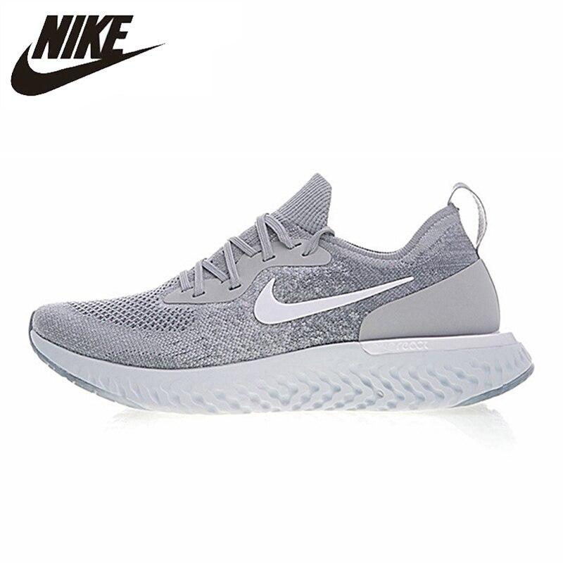 Nike Epic React Flyknit Men Running Shoes Gray Professional Sport Sneakers AQ006