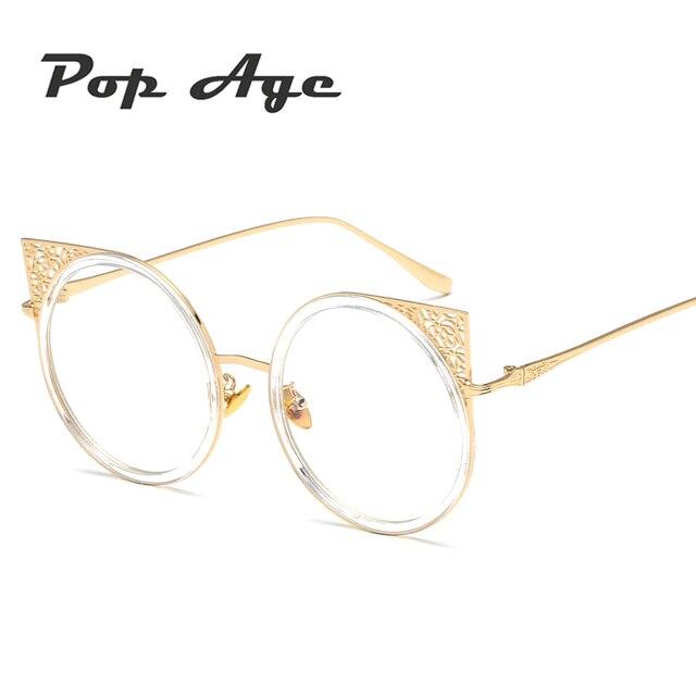 Pop Age Classic Cat Eye Eyeglasses Frames For Women Fashion High ...