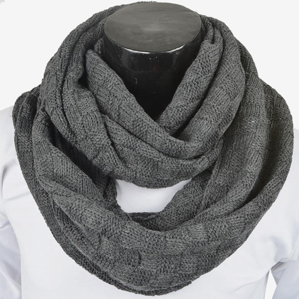 Mens Women Winter Infinity Scarf Grid Cold Weather Scarves Muffler  Neckerchief Neck Gaiter FORBUSITE|scarf muffler|infinity scarfwinter  infinity scarf - AliExpress