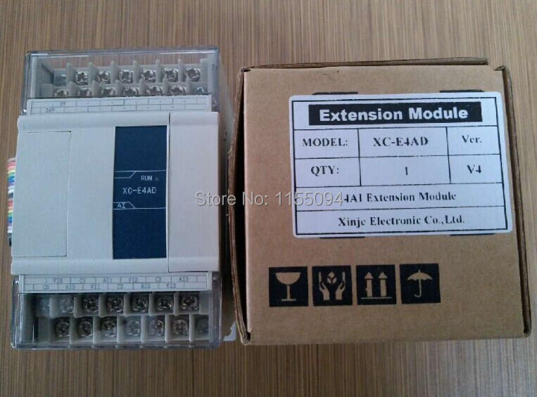 XC-E4AD XINJE XC Series PLC Analog Module AI4 new in box xc e4ad2da xc series plc i o expansion analog module xc e4ad2da 4 channel 14 bits analog input