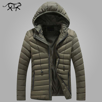 New Brand Winter Jacket Men Clothes 2018 Casual Stand Collar Hooded Collar Fashion Winter Coat Men Parkas Outerwear Warm M 4XL