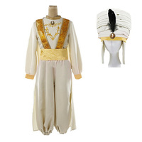 Aladdin Cosplay Costume Men Cosplay Full Set for Show Stage outfit